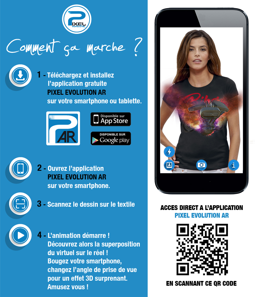 shirt 3D shirt 3D BIKERS CUSTOM réalité augmentée réalité augmentée