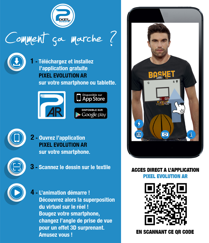 shirt 3D shirt 3D BASKETBALL réalité augmentée réalité augmentée