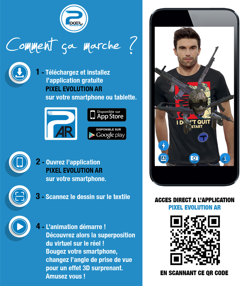 shirt 3D shirt 3D GAMER réalité augmentée réalité augmentée