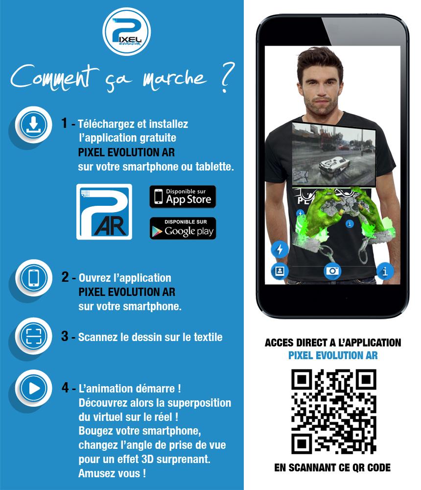 shirt 3D shirt 3D MANETTE GAMER réalité augmentée réalité augmentée