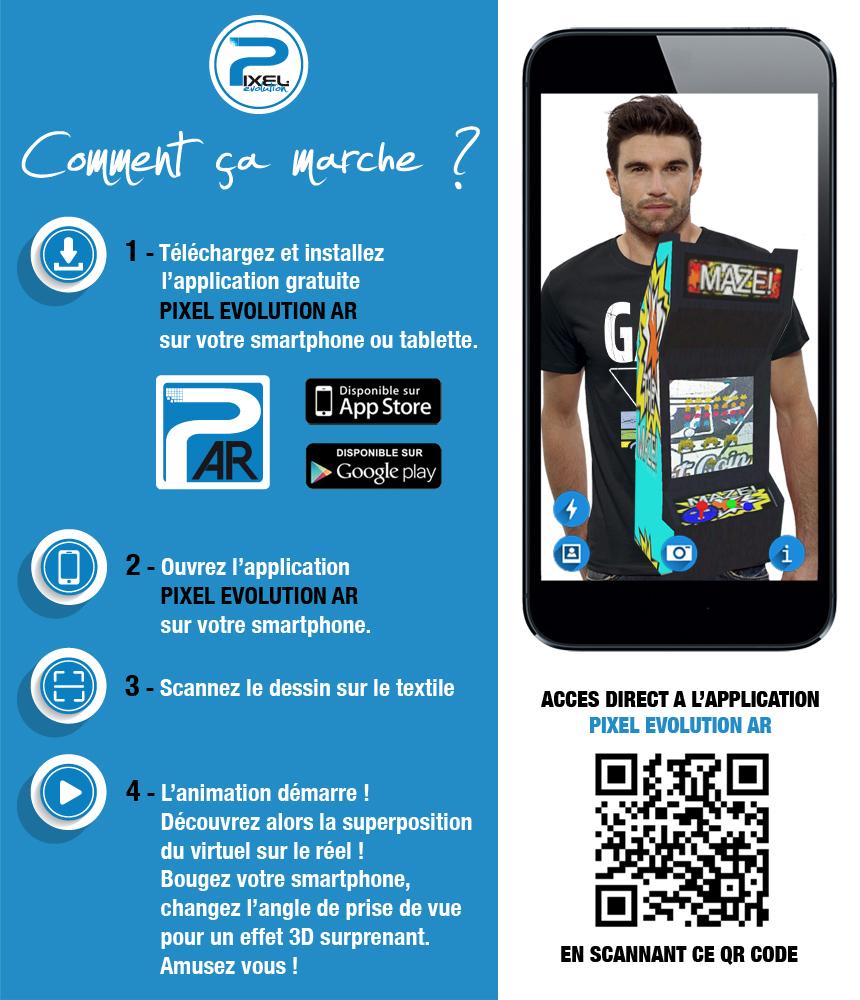 shirt 3D shirt 3D RETRO GAMER réalité augmentée réalité augmentée