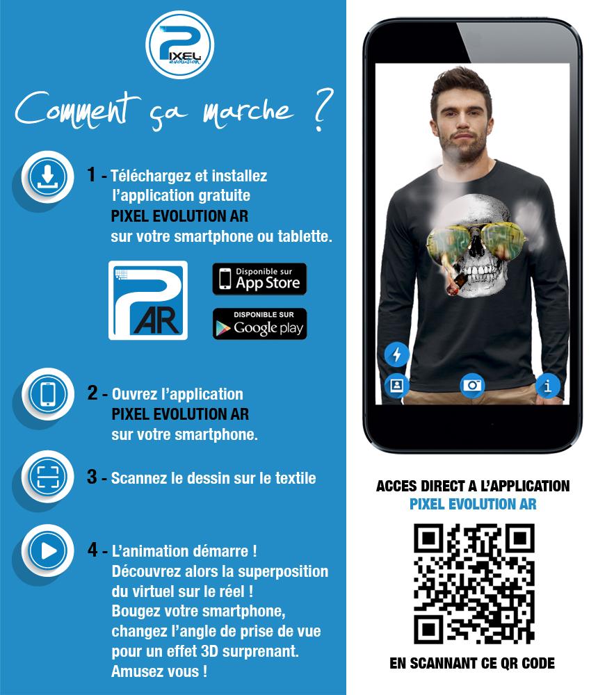 shirt 3D crane cigare las vegas réalité augmentée