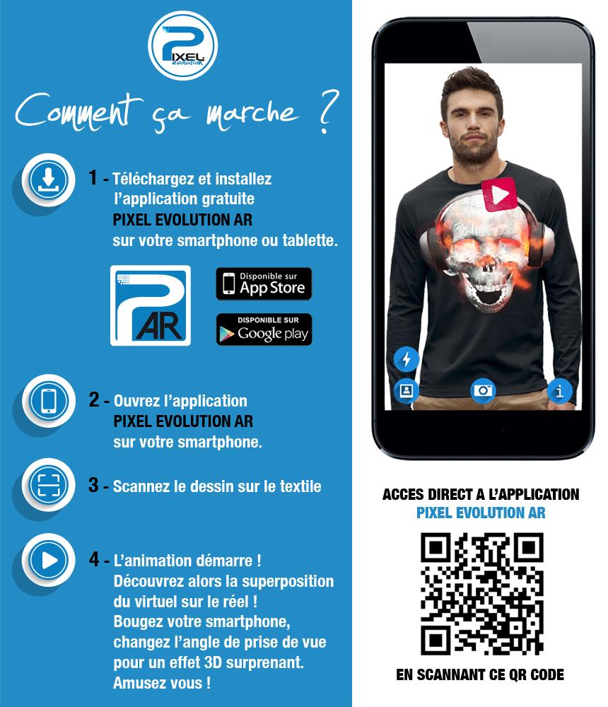 shirt 3D CRANE CASQUE DJ PLAY MUSIC réalité augmentée