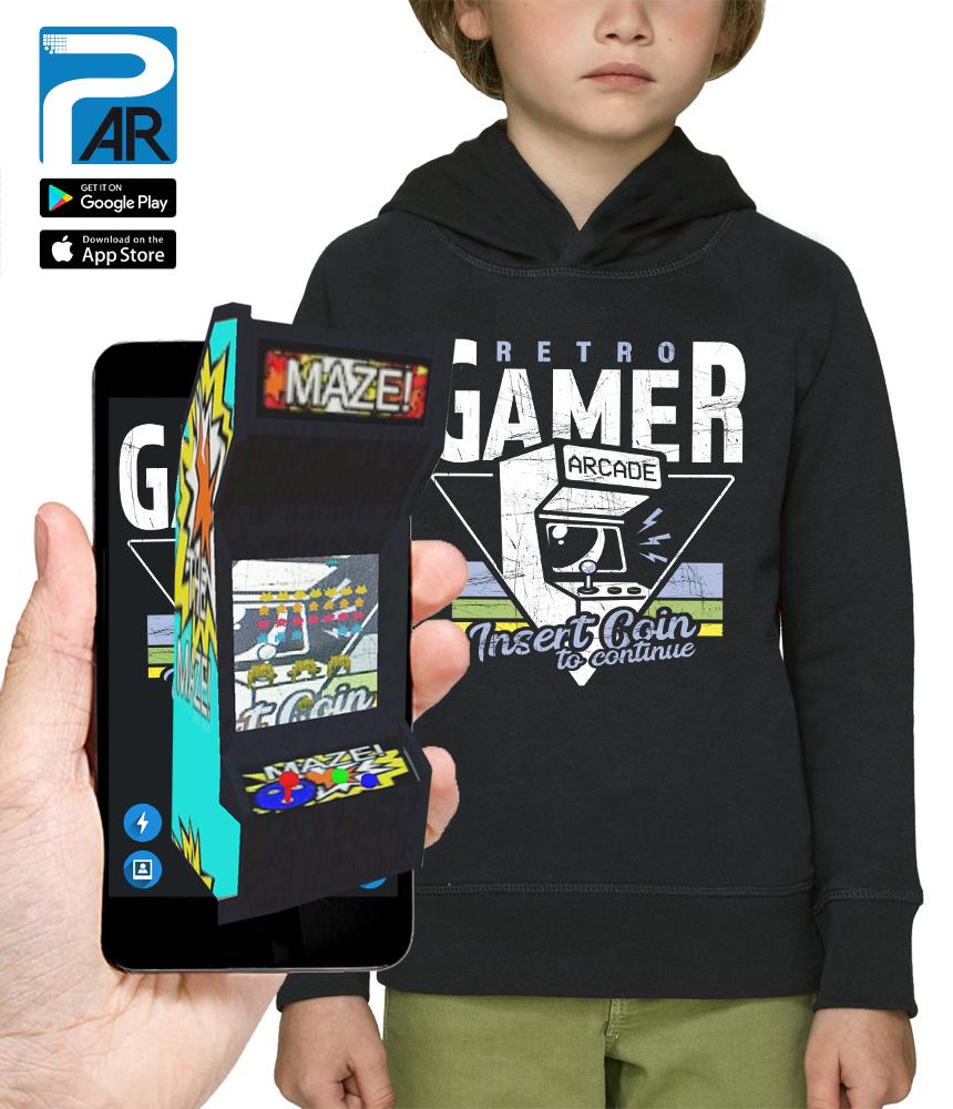 sweat 3D RETRO GAMER réalité augmentée