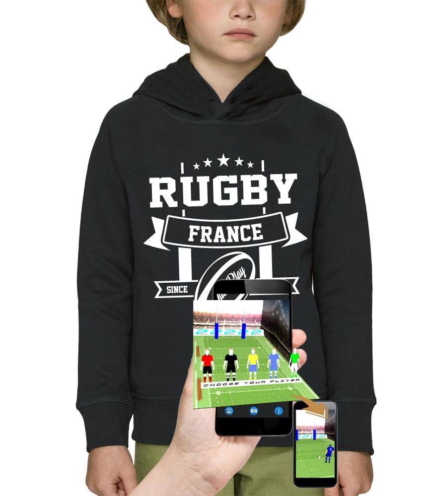 sweat 3D rugby réalité augmentée