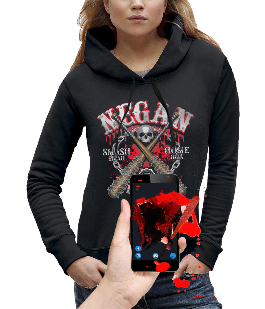 sweat 3D negan the walking dead réalité augmentée