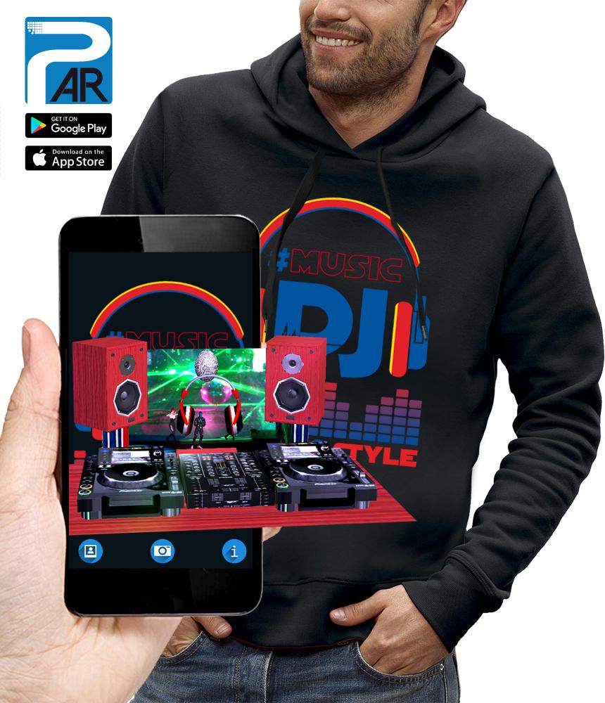 sweat 3D CASQUE DJ STYLE réalité augmentée
