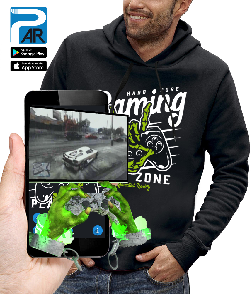 sweat 3D MANETTE GAMER réalité augmentée
