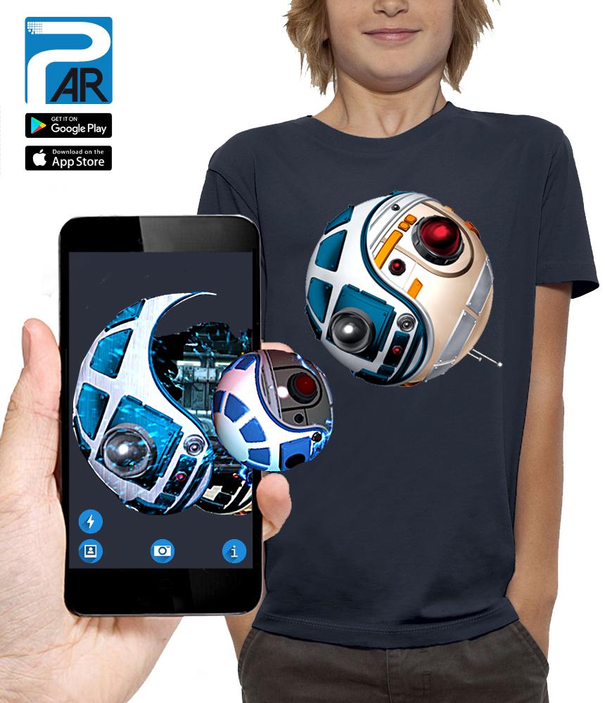 shirt 3D droides réalité augmentée