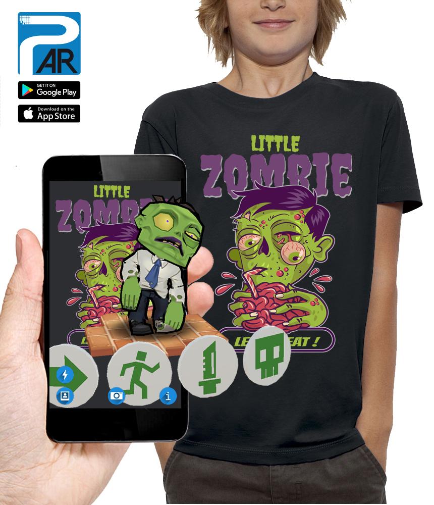 shirt 3D LITTLE ZOMBIE réalité augmentée