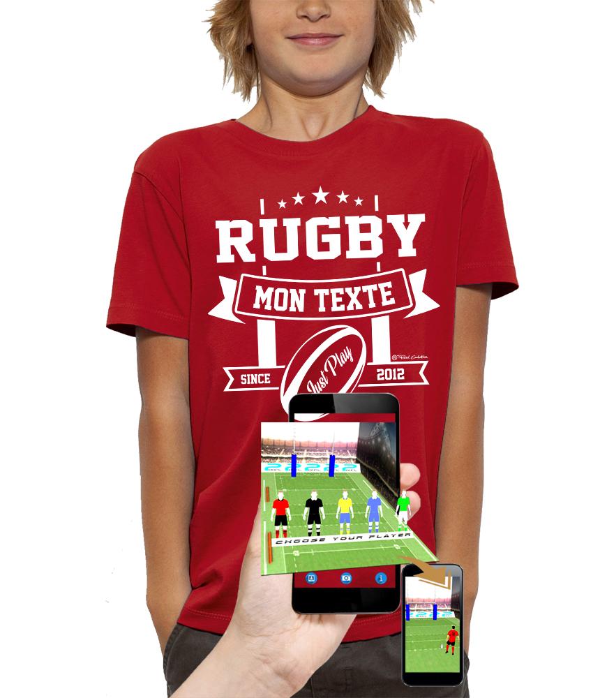 shirt 3D rugby réalité augmentée