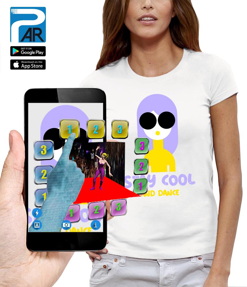 shirt 3D STAY COOL AND DANSE réalité augmentée