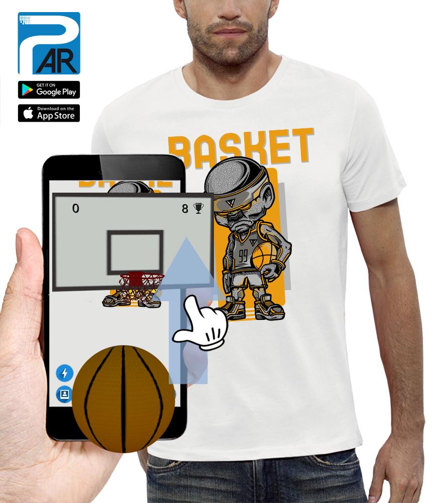 shirt 3D BASKETBALL réalité augmentée