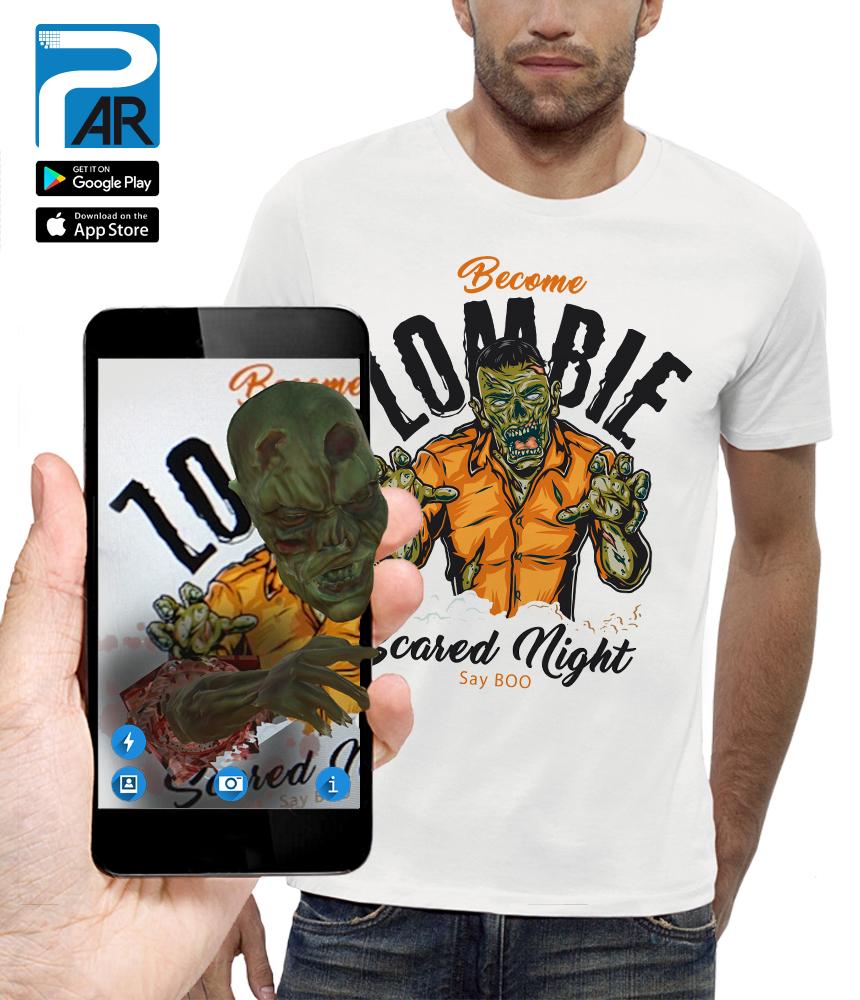 shirt 3D BECOME ZOMBIE réalité augmentée