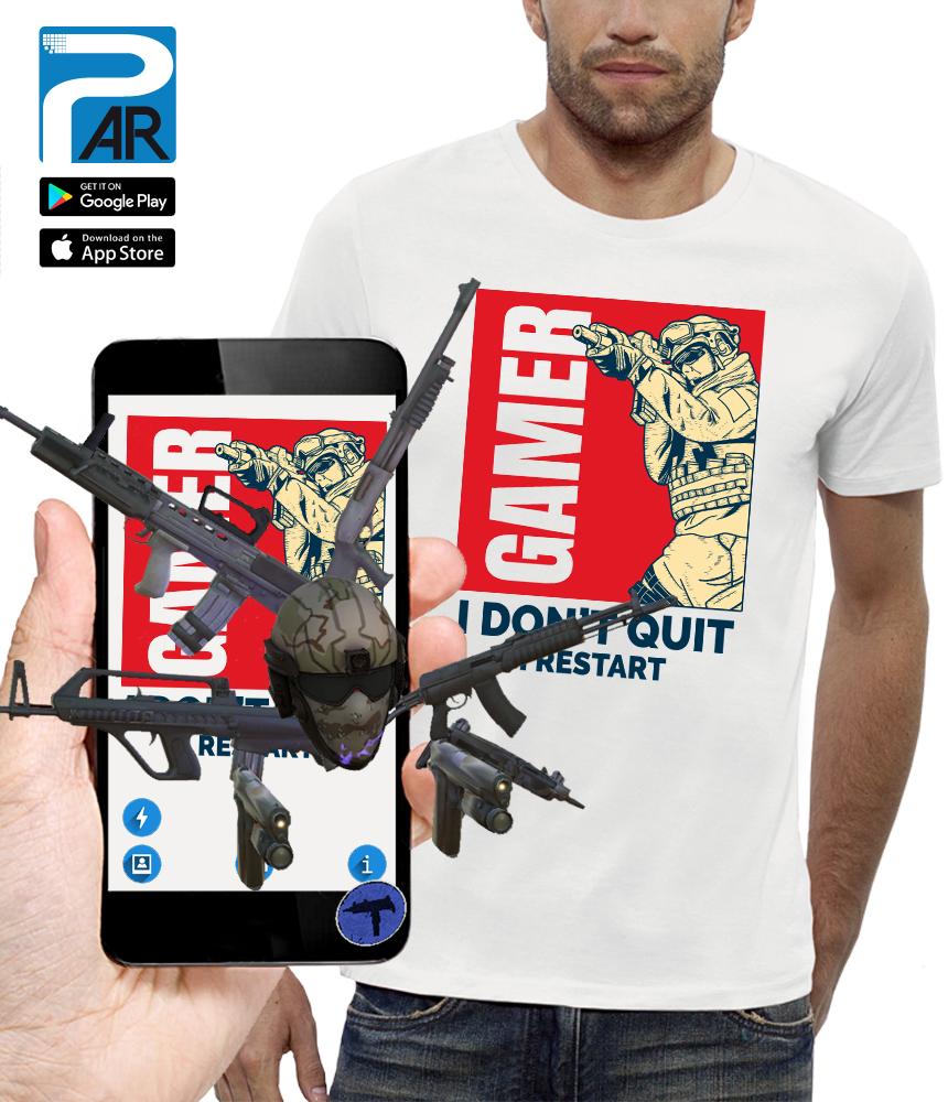 shirt 3D GAMER réalité augmentée