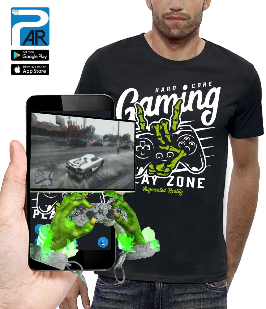 shirt 3D MANETTE GAMER réalité augmentée