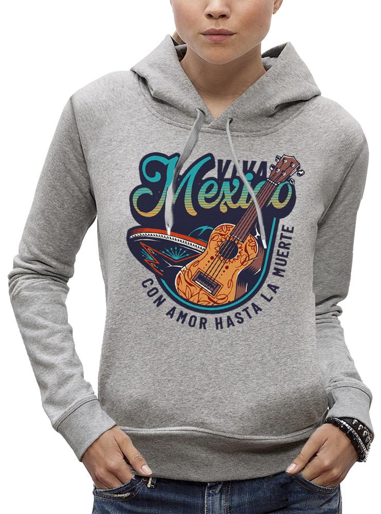 sweat VIVA MEXICO GUITARE ET SOMBRERO