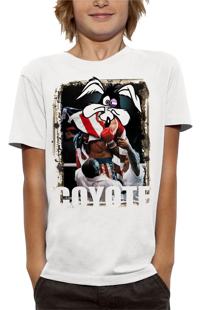 shirt 3D animé rocky-coyoteréalité augmentée