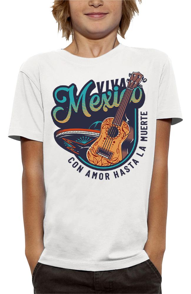 shirt VIVA MEXICO GUITARE ET SOMBRERO