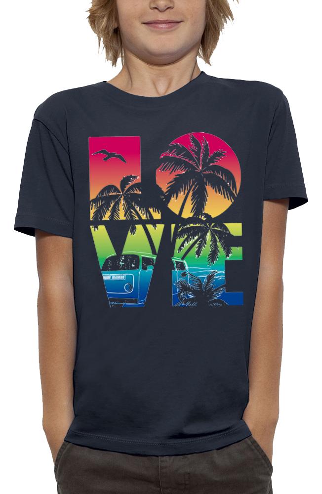 shirt 3D animé love beach réalité augmentée