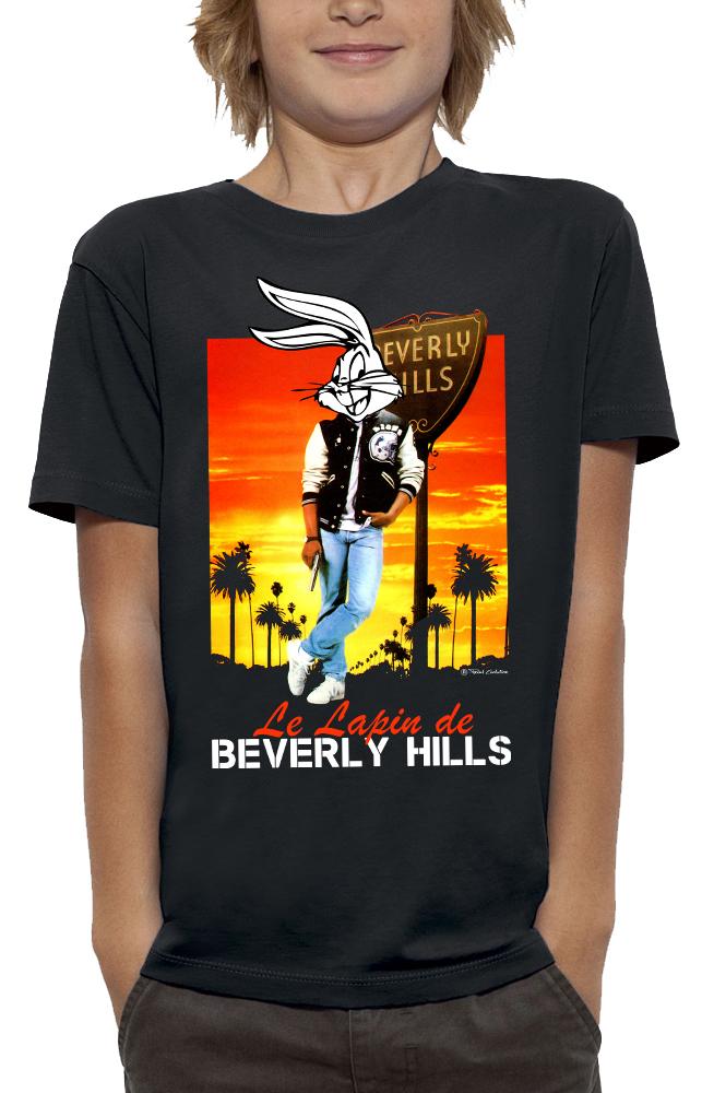 shirt 3D animé LE LAPIN DE BEVERLY HILLS&BUGS réalité augmentée