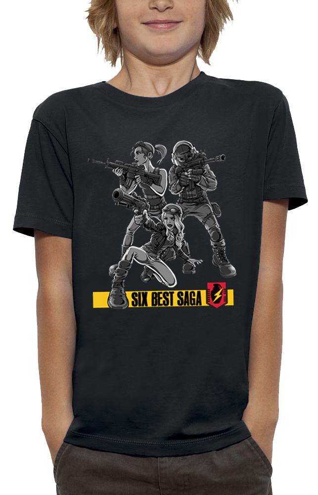 shirt 3D animé SIX BEST SAGA réalité augmentée
