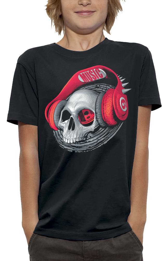 shirt tete de mort casque beats