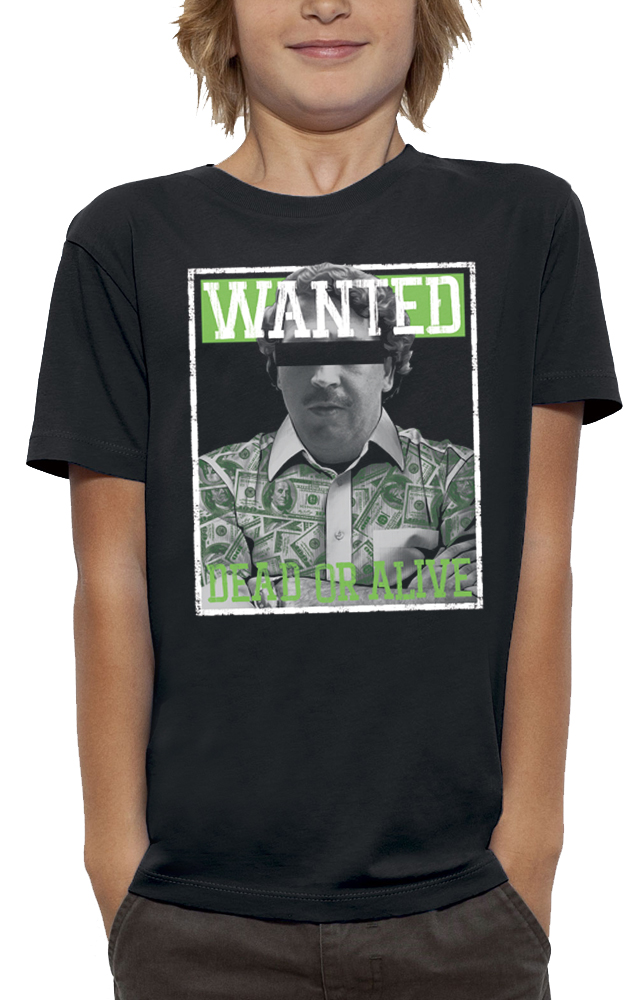 shirt WANTED PABLO ESCOBAR