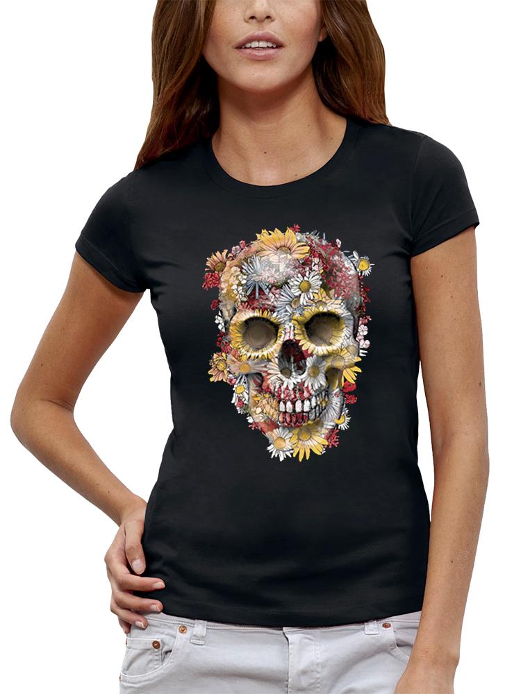 shirt CRÂNE FLEURS