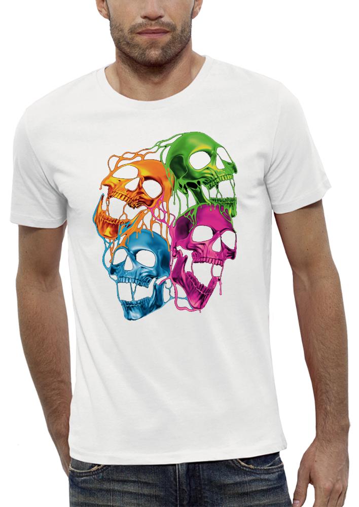 shirt 3D animé CRANES FLUORESCENTS réalité augmentée