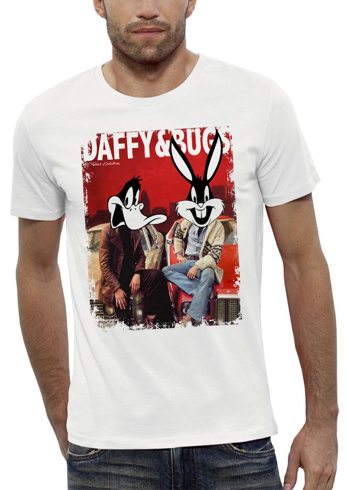 shirt 3D animé daffy-&-buggs réalité augmentée
