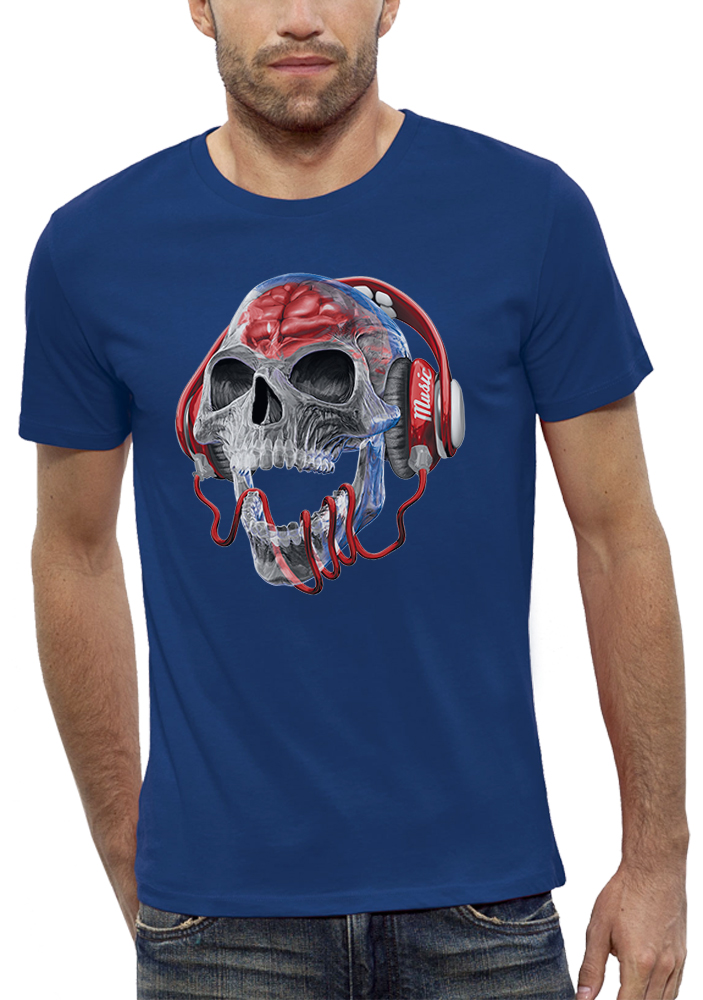 shirt tete de mort translucide