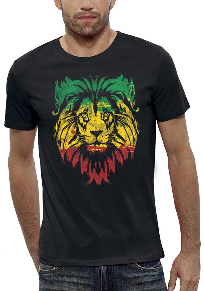 shirt LION VERT JAUNE ROUGE