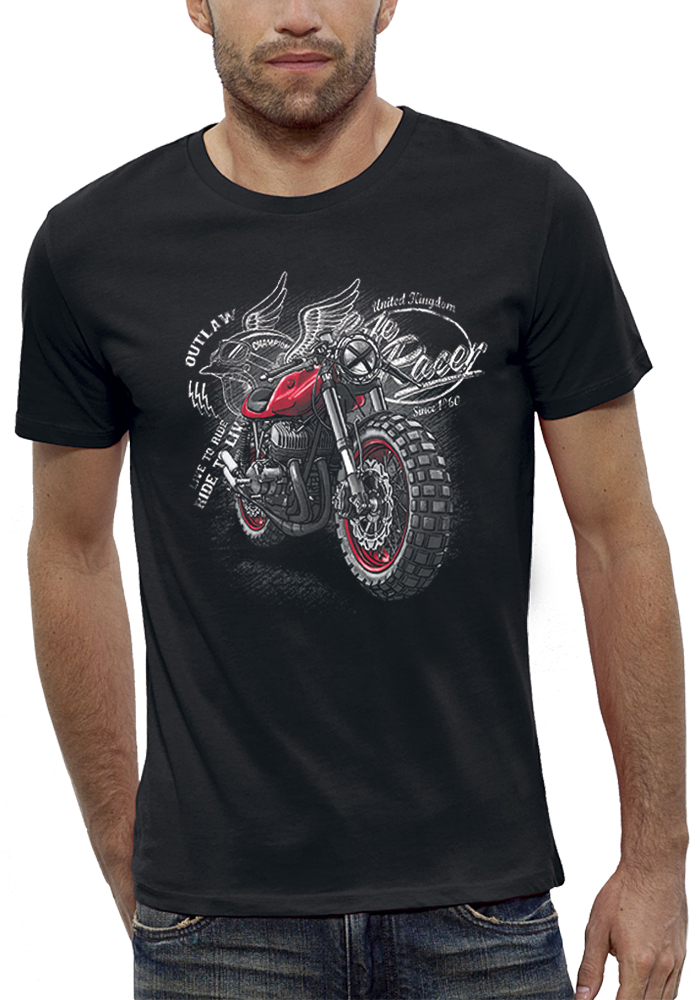 shirt 3D animé moto racer réalité augmentée