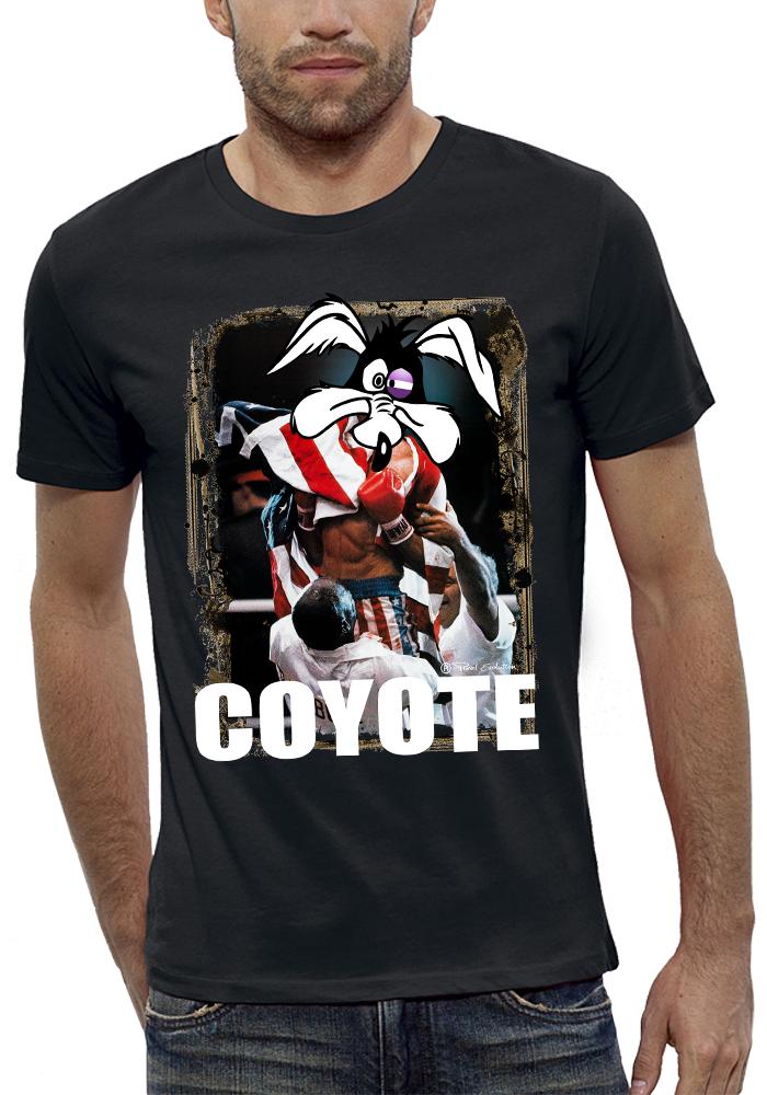 shirt 3D animé rocky-coyote réalité augmentée