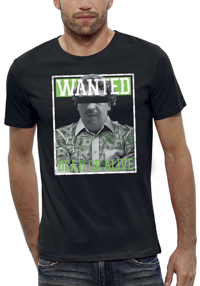 shirt WANTED PABLO ESCOBAR