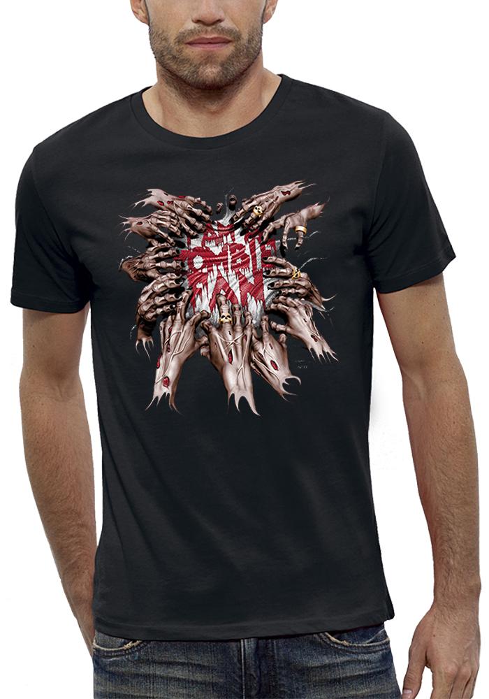 shirt 3D animé zombie fan réalité augmentée