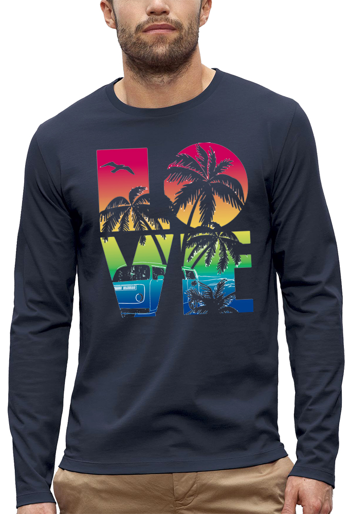 shirt manches longues LOVE BEACH