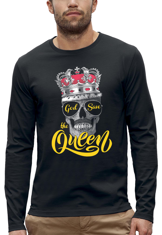 shirt manches longues GOD SAVE THE QUEEN