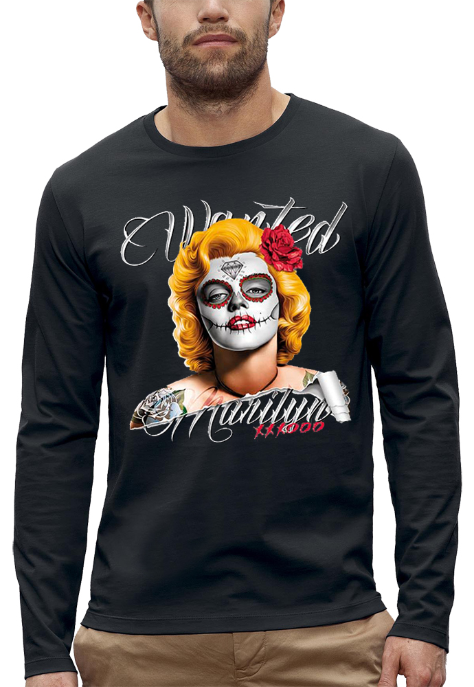 shirt manches longues WANTED MARILYN