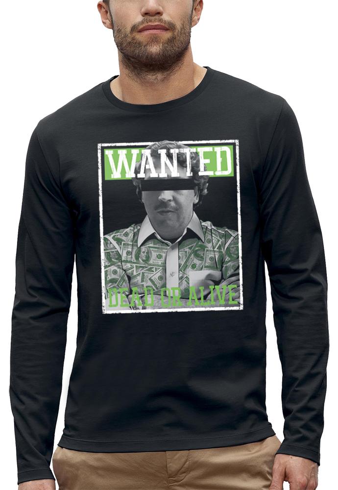 shirt manches longues WANTED PABLO ESCOBAR
